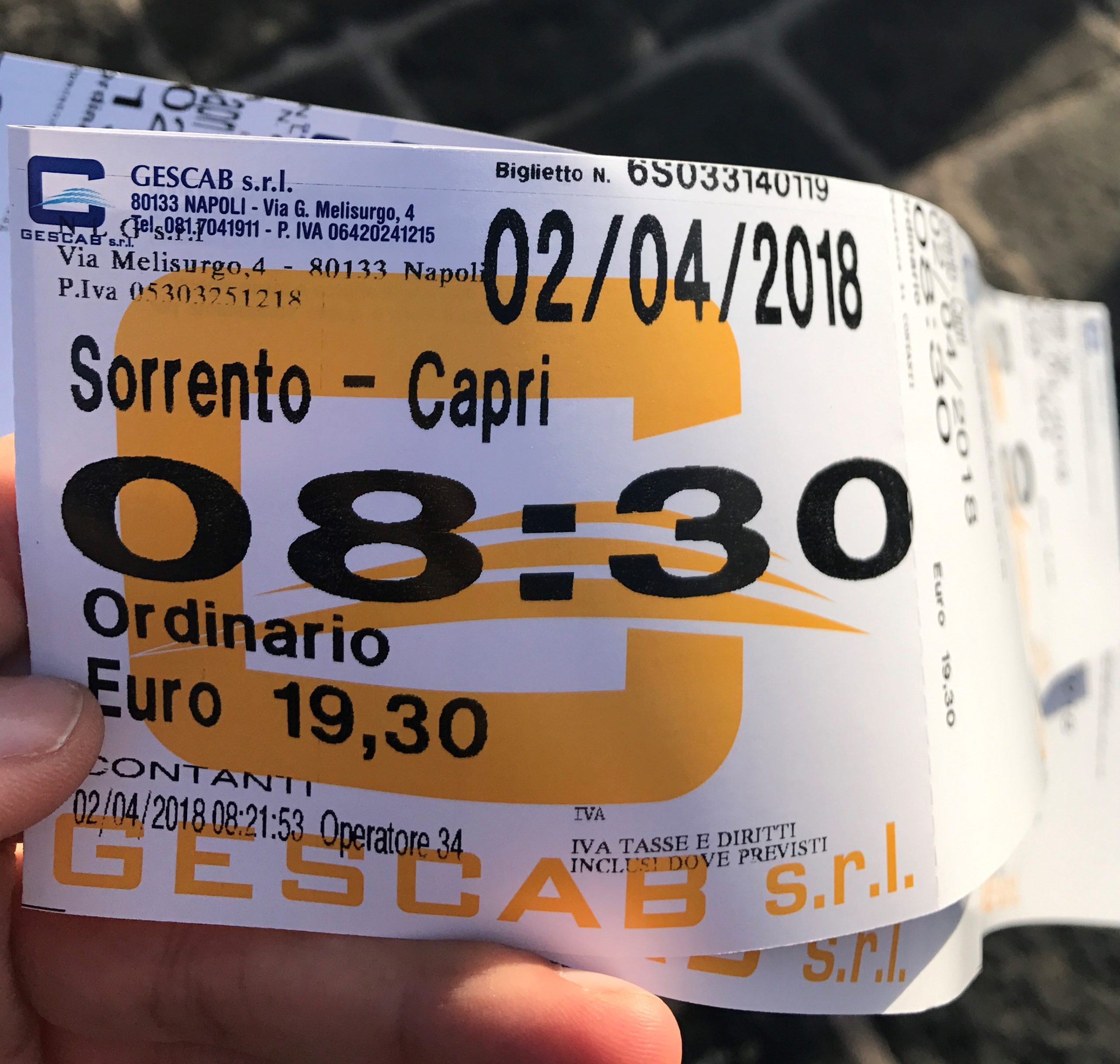 ticket sorrento capri ferry