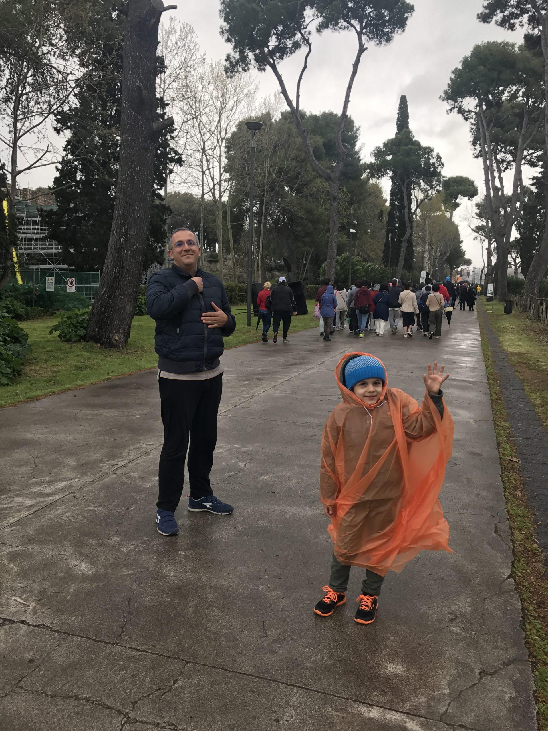 Pompei with rain